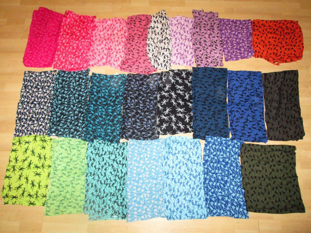 parei geki stampati a mano: confezione da 25 parei in 23 colori