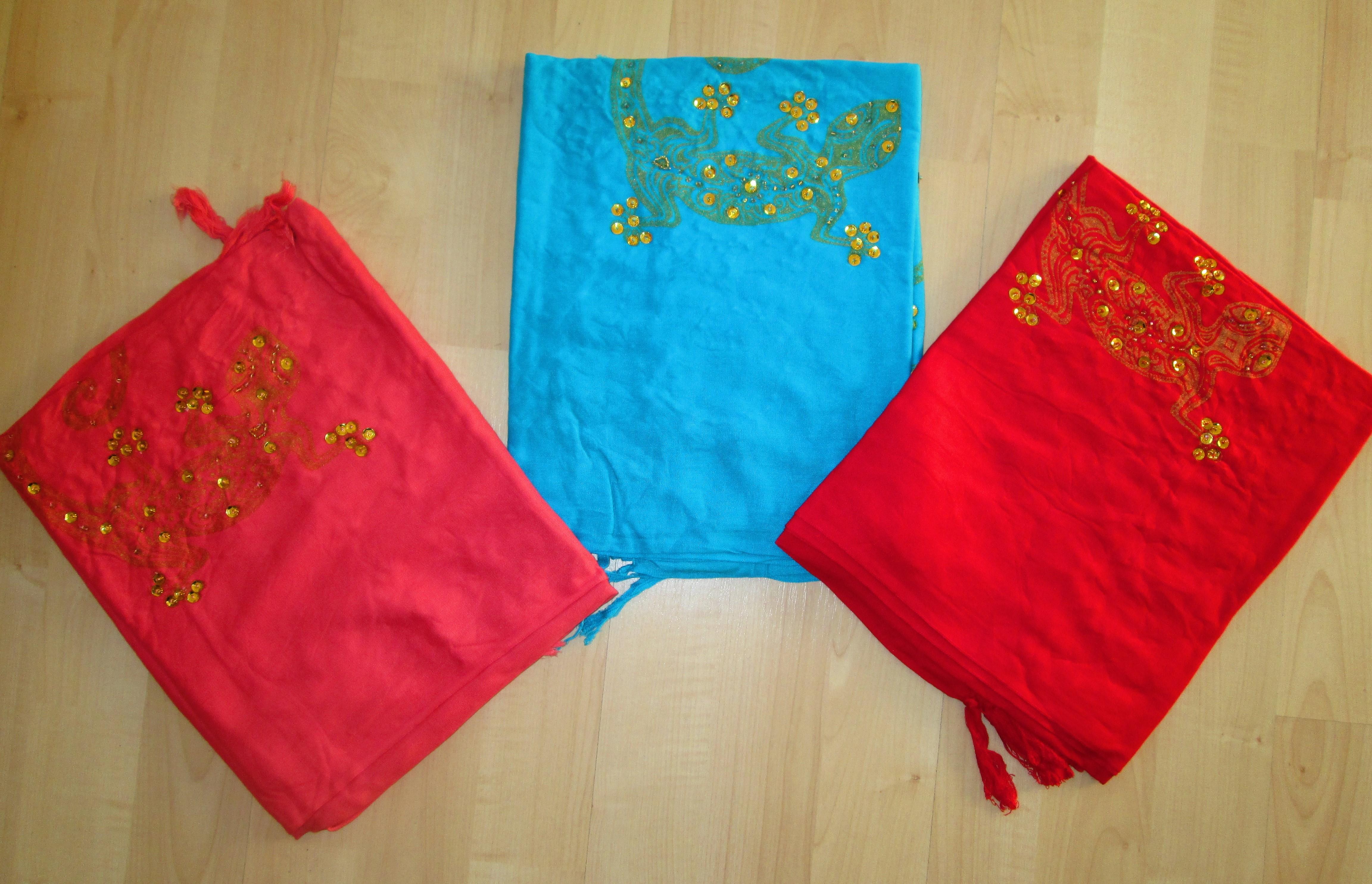 gli altri 3 colorim della confezione: salmone, turchese, rosso